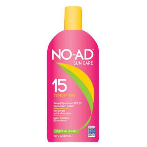 No-Ad General Protection Sunscreen Lotion With SPF 15,16oz Bottle,Each,NA212-400-DM06