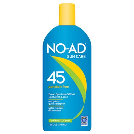 No-Ad General Protection Sunscreen Lotion With SPF 45,16oz Bottle,Each,NA218-400-DM06