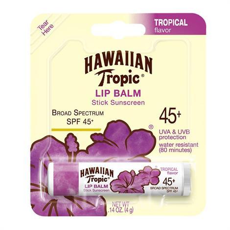 Hawaiian Tropic Tropical Lip Balm With SPF 45+,0.14oz,Each,8777
