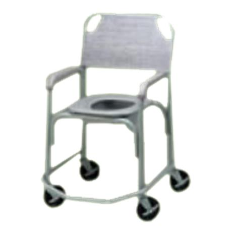 Tubular Fabricators Shower Chair and Commode with Five Inches Solid Stem Casters,Dove Gray,Each,3235-1