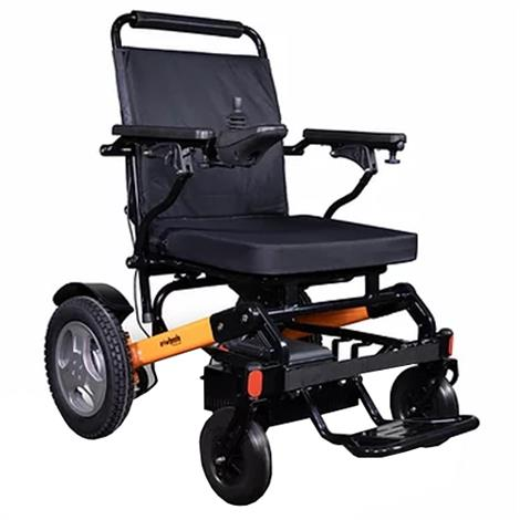 EWheels EW-M45 Folding Electric Wheelchair,Black and Orange,Each,EW-M45