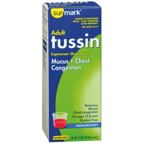 McKesson sunmark Tussin Chest Congestion ,Cold and Cough Relief,Each,3289188