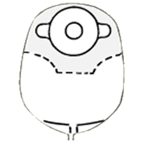 "Image of Nu-Hope Convex Round Post-Operative Mid-Size Urinary Pouch with Flutter Valve,Opening 1-3/8"",10/Pack,8361-FV-C"