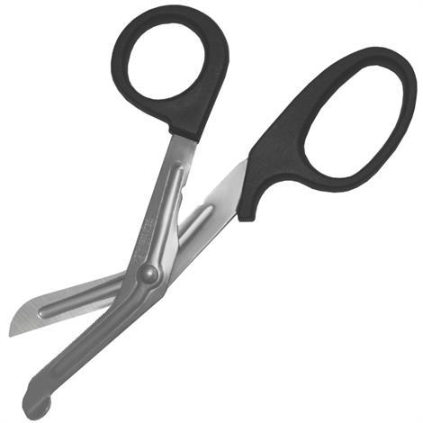 "Economy Black Handle Bandage Scissors,7.5"" Long X 3.5"" Wide X .25"" Thick,Each,#847102004907"