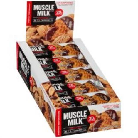 Cytosport Muscle Milk Bar,50,Peanut Butter Cookie Blue Bar,12/Pack,501653