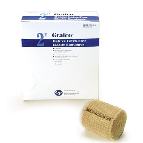 Graham Field Grafco Deluxe Elastic Bandages With Self-Closure,2 Bandages,10 rolls/box,19.8