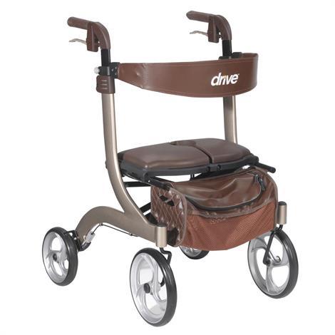 Drive Nitro DLX Four Wheel Rollator,Blue,Each,RTL10266BL-HS