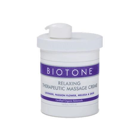 Biotone Relaxing Therapeutic Massage Creme,16 oz (29.6ml),Bottle,Each,RTMC16Z