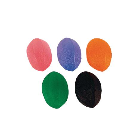 Patterson Medical Football Hand Exercisers,Set of 5 (Pink,Purple,Green,Orange and Black),Each,960573 SAP960573
