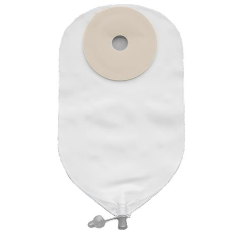 "Image of Nu-Hope Nu-Flex Round Post-Operative Adult Urinary Pouch,Opening 1-1/4"" (3.2cm),Adhesive Foam Pad 3"" (8.9cm),5/Pack,7960"