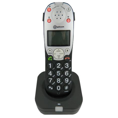 Amplicom USA PowerTel 701 Extender Amplified DECT Cordless Accessory Handset,Cordless phone,Each,95408