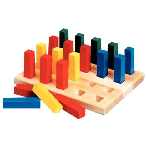 Pegboard with Square Pegs,20 square holes and pegs,Each,8179