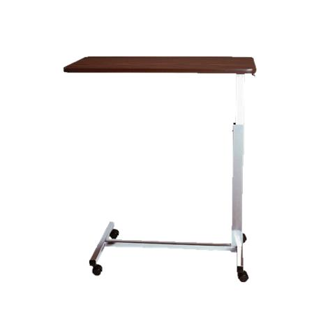 Medline Economy H-Base Overbed Table,Walnut Finish,Without Vanity,Each,MDR104014