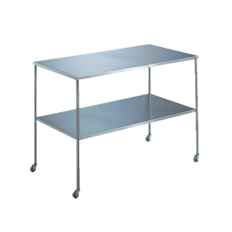 "Medline Blickman Instrument Table with Shelf,36""L x 24""W x 34""H,Each,MPH08043"