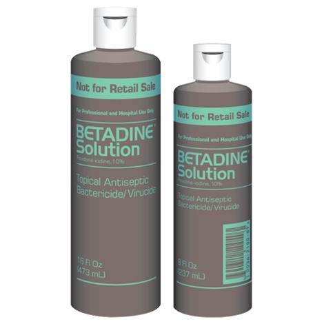 Purdue Betadine Solution,16oz Bottle,Each,6761815017