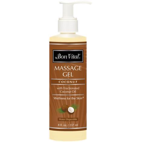 Bon Vital Coconut Massage Gel,1/2 Gallon Bottle,Each,BVCOGHG