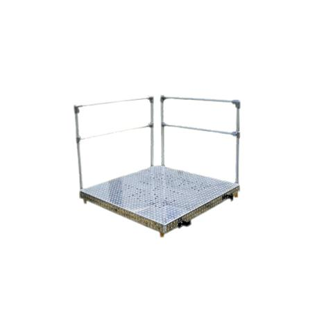 "Roll-A-Ramp Aluminum Platform Kit,48"" x 48"",With Handrails,Each,PF1-48HR"