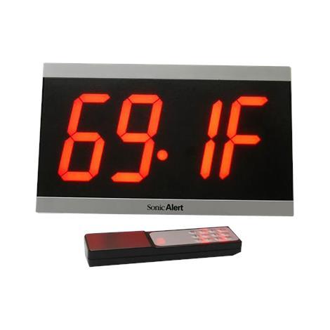 "Sonic Alert Big Display Maxx Alarm Clock,4"" x 11"",Each,BD4000"