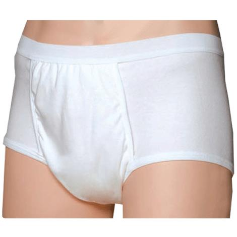 Salk CareFor Ultra Mens Brief with Odor Control HaloShield,Large,Fits Waist 37