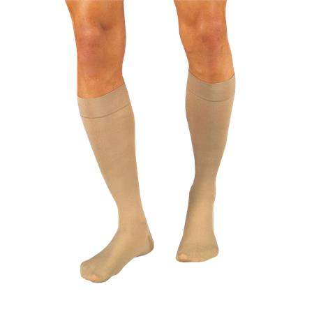 BSN Jobst Relief Large Closed Toe Knee-High 20-30 mmHg Firm Compression Stockings,Beige,Pair,114622 BSN114622