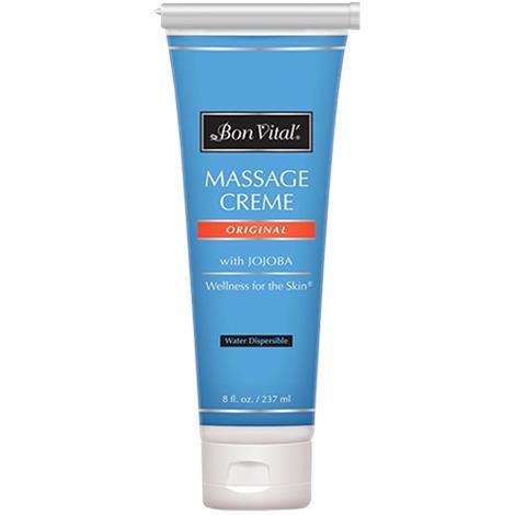 Bon Vital Original Massage Creme,8oz,Tube,Unscented,Each,BVORIGC8ZT