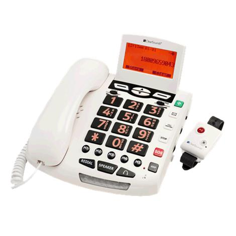 """ClearSounds CSC600ER UltraClear Amplifying Emergency Connect Speakerphone,7.75"""" x 7.5"""" x 1.75"""",White,Each,CS-CSC600ER"""