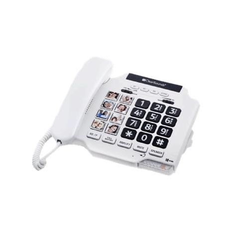 "ClearSounds CSC500 Amplified Spirit Photo Phone,9.25"" x 6"" x 2.25"",White,Each,CS-CSC500"