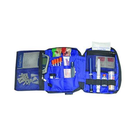 "Medicool Dia-Pak Deluxe Organizer,6"" x 8"" x 2.5"",Each,DPDELXBK"