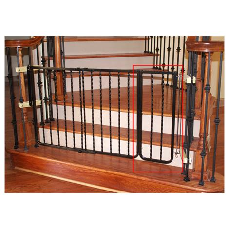 Cardinal Gates Extension For Wrought Iron Decor Safety Gate,Black,Each,WIX