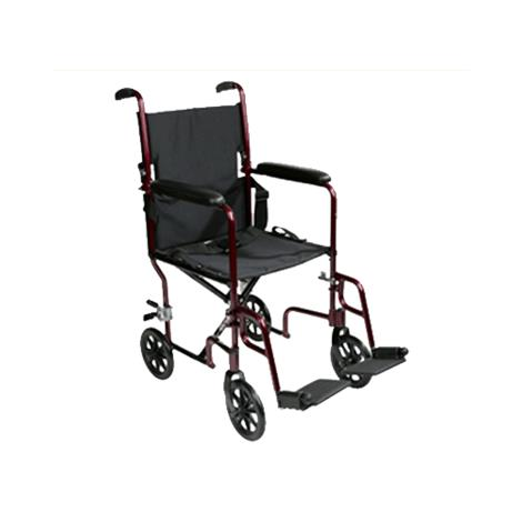 "ITA-MED 19 Inch Transport Wheelchair,Seat 19""W,Each,WT19-100"