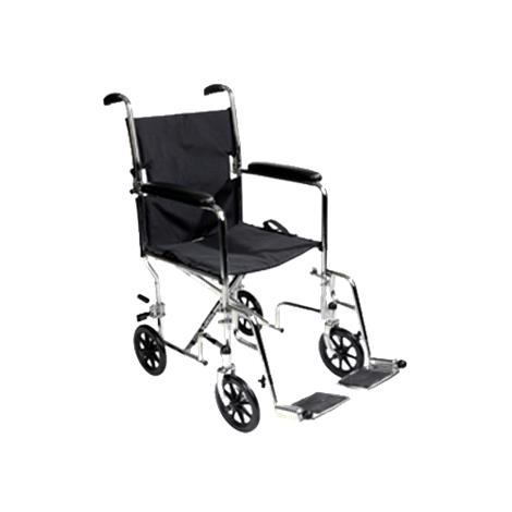 "ITA-MED 19 Inch Aluminum Transport Wheelchair,Blue,Seat 19""W,Each,WTA19-100"