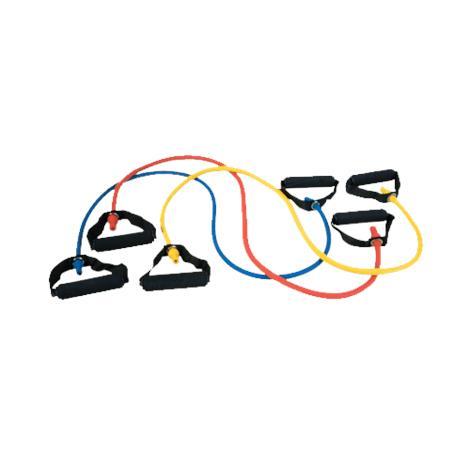 BodySport Resistance Tubes with Handles,Blue,Light Resistance,Each,ZR145LT