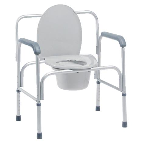 Graham-Field Lumex Bariatric Three-In-One Aluminum Commode,Weight Capacity: 400lb,2/Pack,2190A
