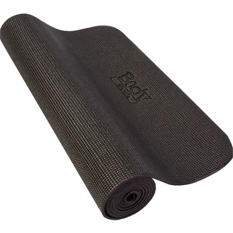 "BodySport Yoga And Fitness Mat,72"" x 24"" x 1/4"",Black,Each,YM14BLK"