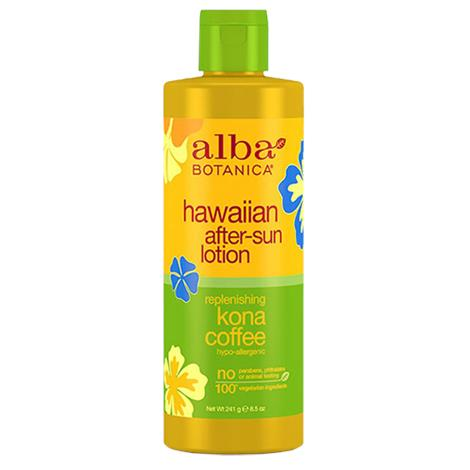 Alba Botanica Hawaiian Replenishing Kona Coffee After Sun Lotion,8.5fl oz,Each,039009-6