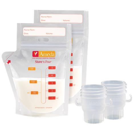 Ameda Store N Pour Breast Milk Storage Bags Starter Kit,Breast Milk Storage Bags Starter Kit,20/Pack,17242M