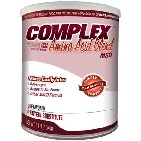 Applied Complex Amino Acid Blend MSD Drink Mix,Unflavored,1lb (454gm) Can,4/Pack,5900