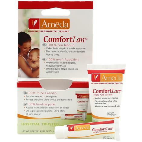 Ameda Evenflo ComfortLan Pure Lanolin Cream,0.25 oz,50/Pack,17203