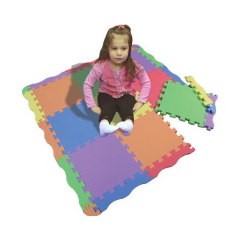 Foam Floor Soft Play Mat,Assembled size: 44W x 44L,Each,3151