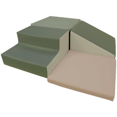 Soft Cushion Cube Set,40L x 40W x 10H,Each,3947