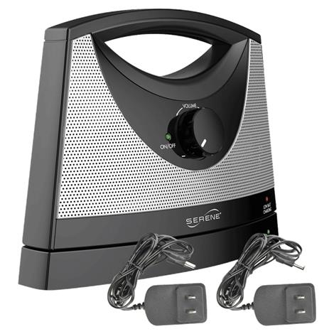 "Serene Innovations TV SoundBox Wireless TV Speaker With Two A/C Adapters,Dimensions: 9"" X 7"" X 3.25"",Each,SB 1001"
