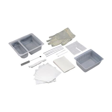 Amsino AMSure Tracheostomy Clean And Care Two Compartment Trays,Two Compartment Tray,20/Pack,AS861