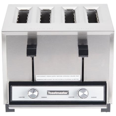 Toastmaster Four Slice Deluxe Stainless Steel Toaster,Toaster,Each,TM-43TS