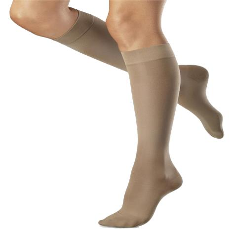 Venosan VenoSoft Closed Toe Below Knee 30-40mmHg Compression Stockings with Microfiber,Large,Black,Pair,SN42013