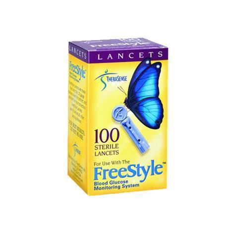 Abbott FreeStyle Sterile Lancets,Lancet 28G,100/Pack,130010