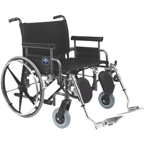 """Medline Shuttle Extra-Wide Wheelchair,24"""" (61cm),Desk Length Removable Arms,Each,MDS809650"""