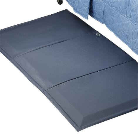 "Posey Beveled Floor Cushion,Standard,Flat: 70""L x 38""W x 1""H,Folded: 24""L x 38""W x 3""H,Each,6023"