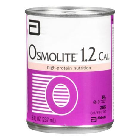 Abbott Osmolite 1.2 Cal High-al Drink,1000ml (33.8fl oz),Ready-To-Hang,Institutional Bottle,8/Case,62697