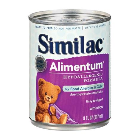 Abbott Similac Expert Care Alimentum Hypoallergenic Formula with Iron,Ready to Feed,1qt (946ml),Bottle,6/Case,57512