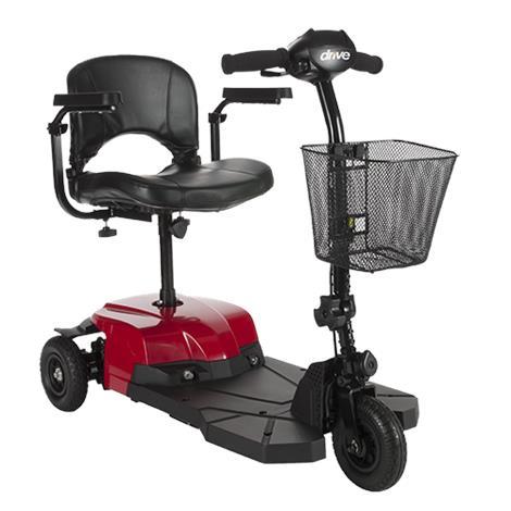 "Drive Bobcat X3 Three Wheel Transportable Scooter,16.5"" Folding Seat,Each,BOBCATX3"